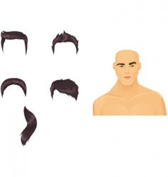 male hairstyles black vector image vector image