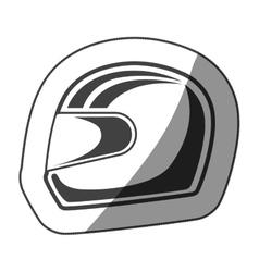 sticker helmet monochrome with half shaded vector image vector image