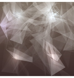 Abstract low poly grey bright technology vector