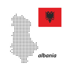 Albania country with polka dots vector