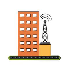 Antenna telecommunications icon image vector