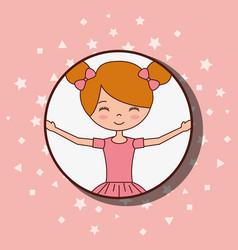 Beautiful ballerinas ballet cartoon character vector
