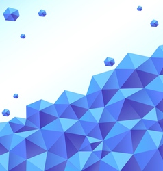 blue polygon background vector image vector image