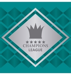Champions league design vector
