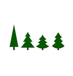 Christmas green Trees vector