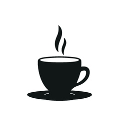 coffee cup simple black icon on white background vector image