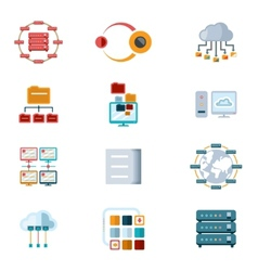 Computer Networking Icons vector