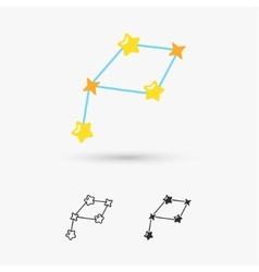 Constellations stars vector