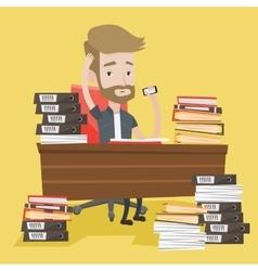 Despair man working in office vector