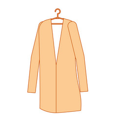 doctor coat hanging icon vector image