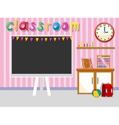 Empty classroom with blackboard vector image