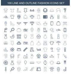 Fashion icons vector