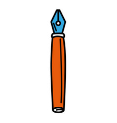 feather pen isolated icon vector image