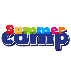 Font design for word summer camp on white vector