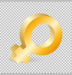 golden gender symbol vector image