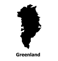 Greenland map icon simple style vector
