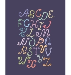 hand drawn abc funky letters isolated on light vector image