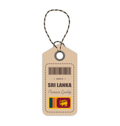 hang tag made in sri lanka with flag icon isolated vector image