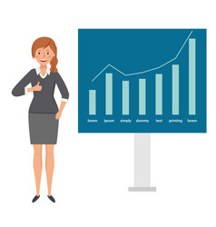 happy businesswoman shows thumb up against the vector image
