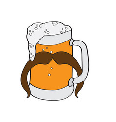 hipster beer icon vector image