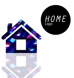 Home logo transparent colors overlap to feel vector image