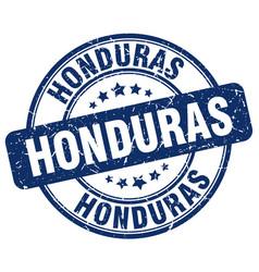 Honduras blue grunge round vintage rubber stamp vector