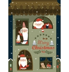 House of Santa Clauses vector image