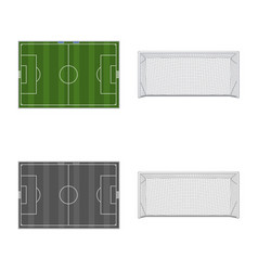Isolated object of soccer and gear sign vector