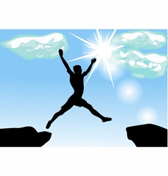 leap across the chasm vector image