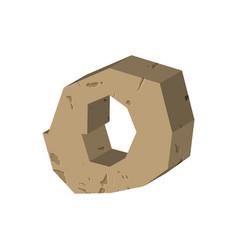 Letter o stone font rock alphabet symbol stones vector