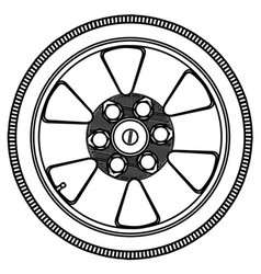 Low profile tyre with wheel vector