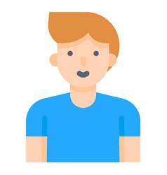 Man avatar flat style icon vector
