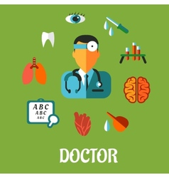 Medical flat infographic concept vector image
