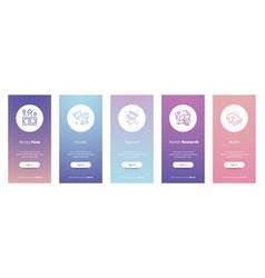 Money flow vertical cards with strong metaphors vector