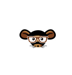 mouse cartoon logo vector image