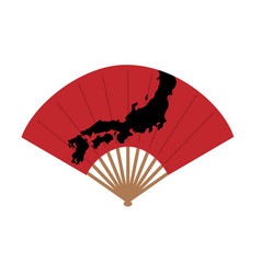 oriental japan fan isolated on white background vector image
