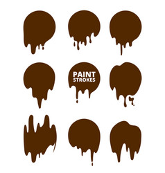 paint drops and strokes splashes vector image