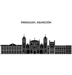 Paraguay asuncion architecture city vector