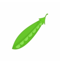 Peas green icon in cartoon style vector