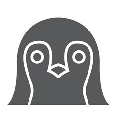 penguin glyph icon animal and zoo bird sign vector image
