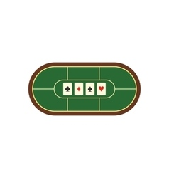 Poker table flat icon vector