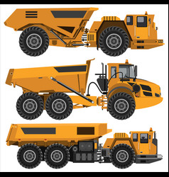 powerful articulated dump truck vector image