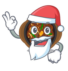 Santa bulgogi isolated with in character vector