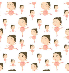 seamless background template with girl doing vector image
