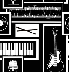 seamless pattern musical attributes vector image