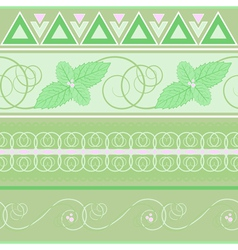 seamless pattern with mint vector image