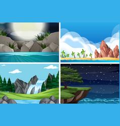 set of different scene vector image