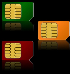 set sim cards vector image