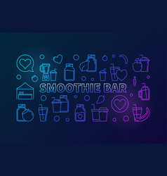 smoothie bar creative horizontal banner vector image