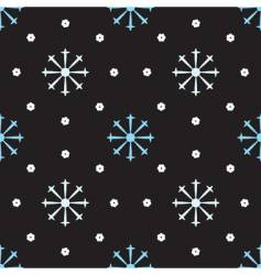 Snowflakes winter seamless pattern vector